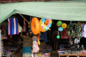 라오스 방비엥 몬도가네 시장